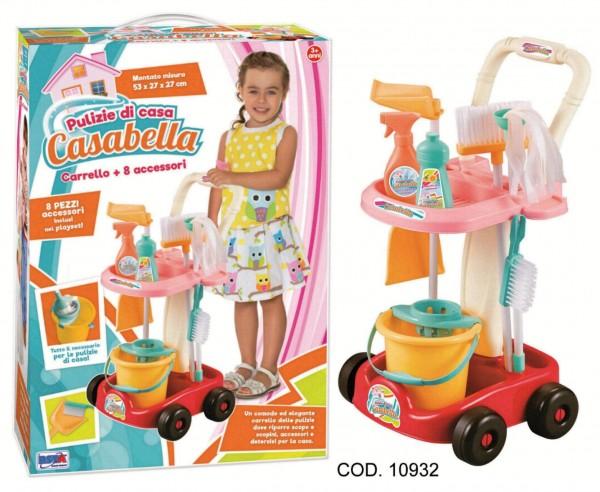 Carucior cu accesorii curatenie RS Toys 8 piese