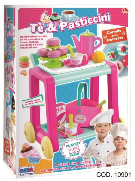 Carucior pentru servirea ceaiului cu accesorii RS Toys