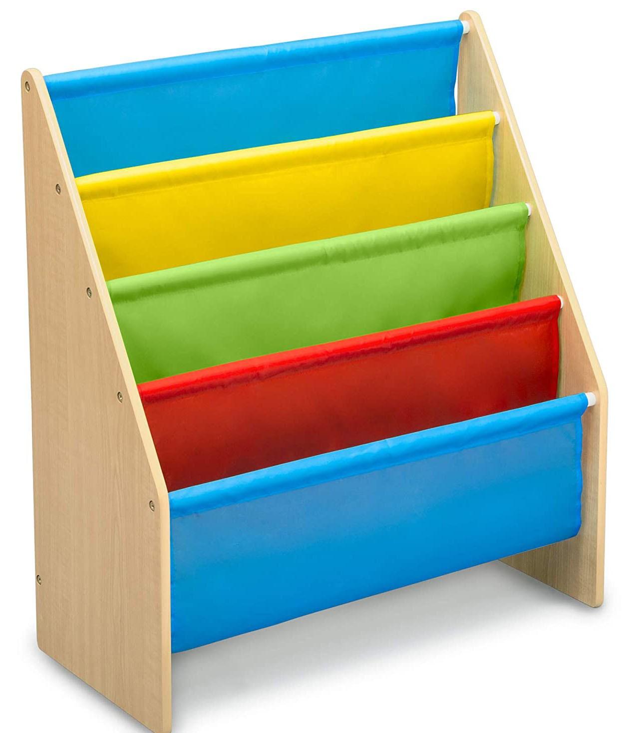 Organizator carti cu cadru din lemn Natur Multicolor imagine