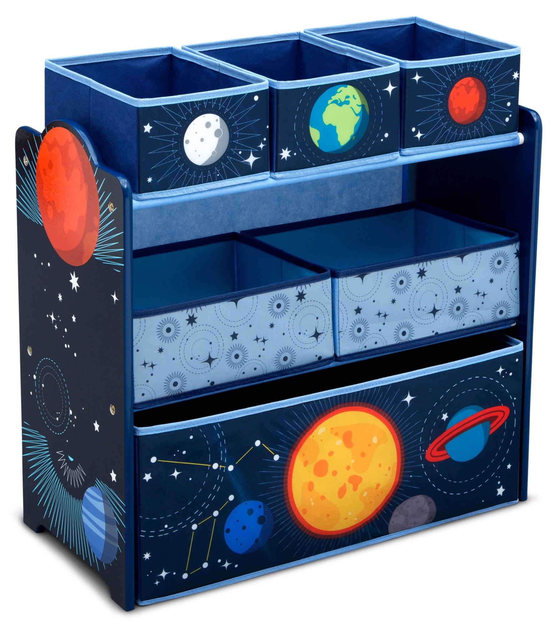 Organizator jucarii cu cadru din lemn Space Adventures imagine