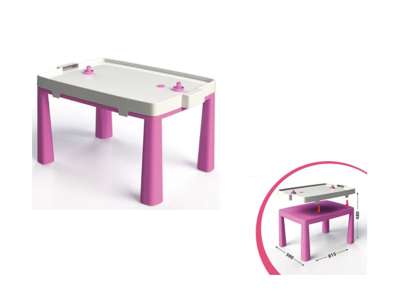 Set masa copii+scaun taburet MyKids 04580/3 Roz imagine
