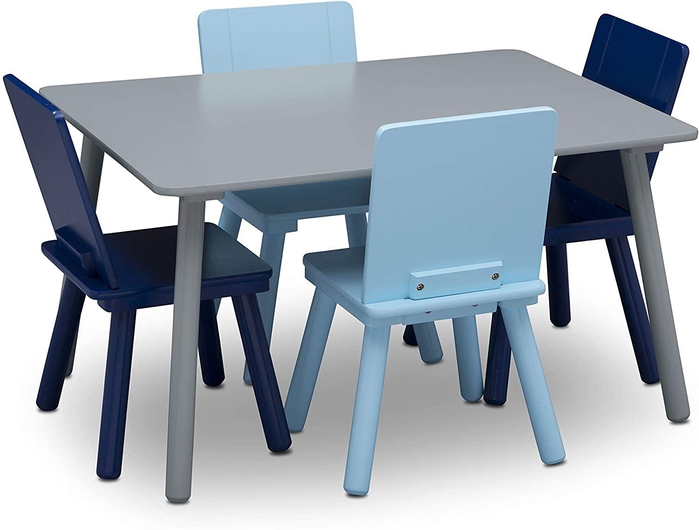 Set masuta si 4 scaunele Grey/Blue imagine