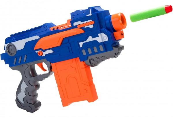 Set pistol cu 16 gloante moi pentru copii Globo Wtoy