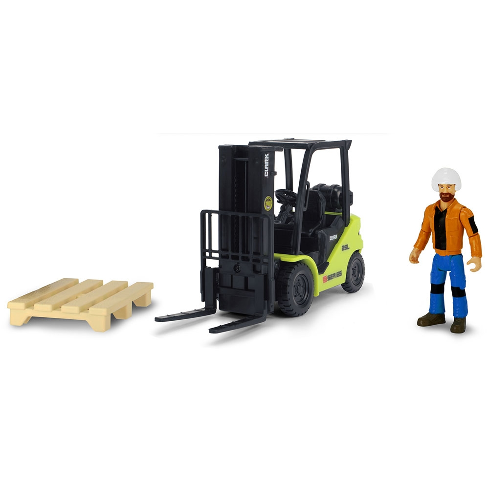 Stivuitor Dickie Toys Playlife Forklift cu figurina si accesorii