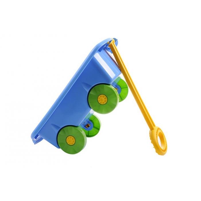 Carucior pentru jucarii marmat - albastru imagine