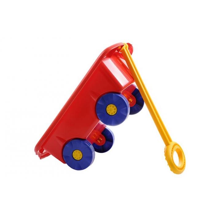 Carucior pentru jucarii marmat - rosu imagine