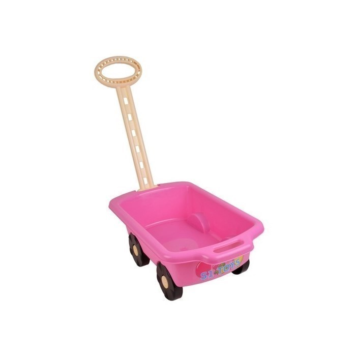 Carucior pentru jucarii marmat - roz imagine