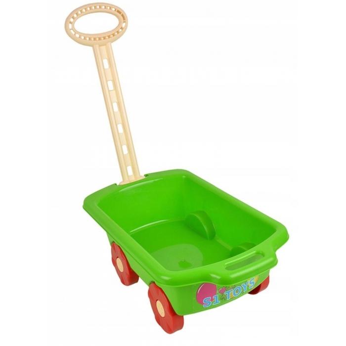Carucior pentru jucarii marmat - verde imagine