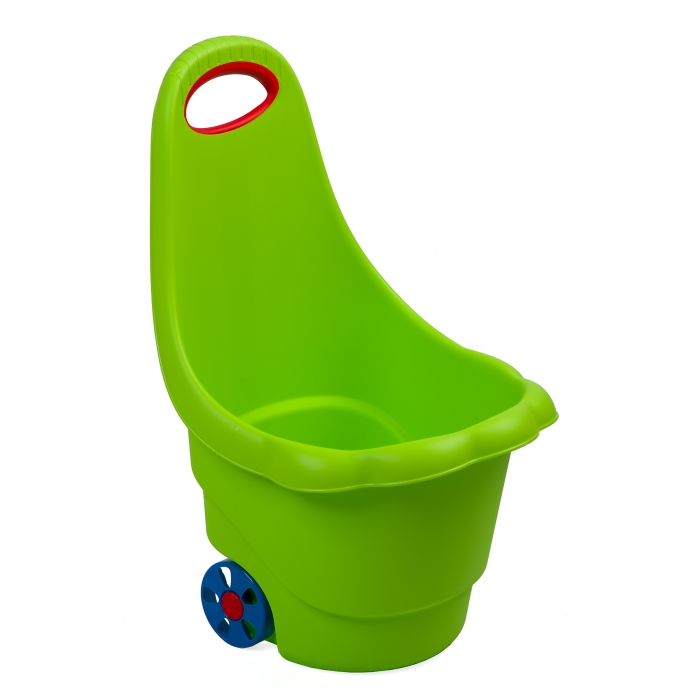 Galetusa pentru jucarii pe roti marmat - verde imagine