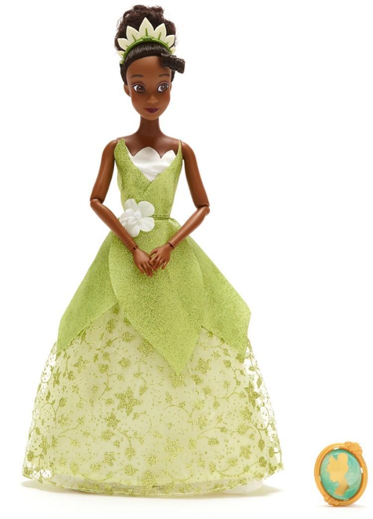 Papusa Printesa Disney Tiana cu pandantiv