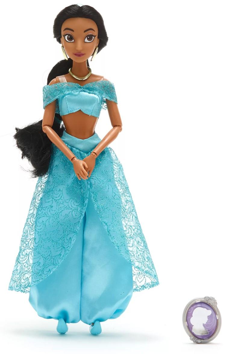 Papusa Printesa Disney Jasmine cu pandantiv