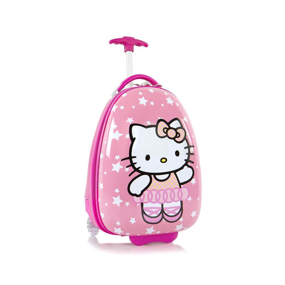 Troler calatorie ABS Copii - Fete,Hello Kitty, Roz, 46 cm