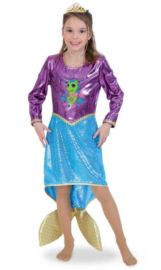 Costum Pentru Serbare Sirena Deluxe 116 Cm imagine