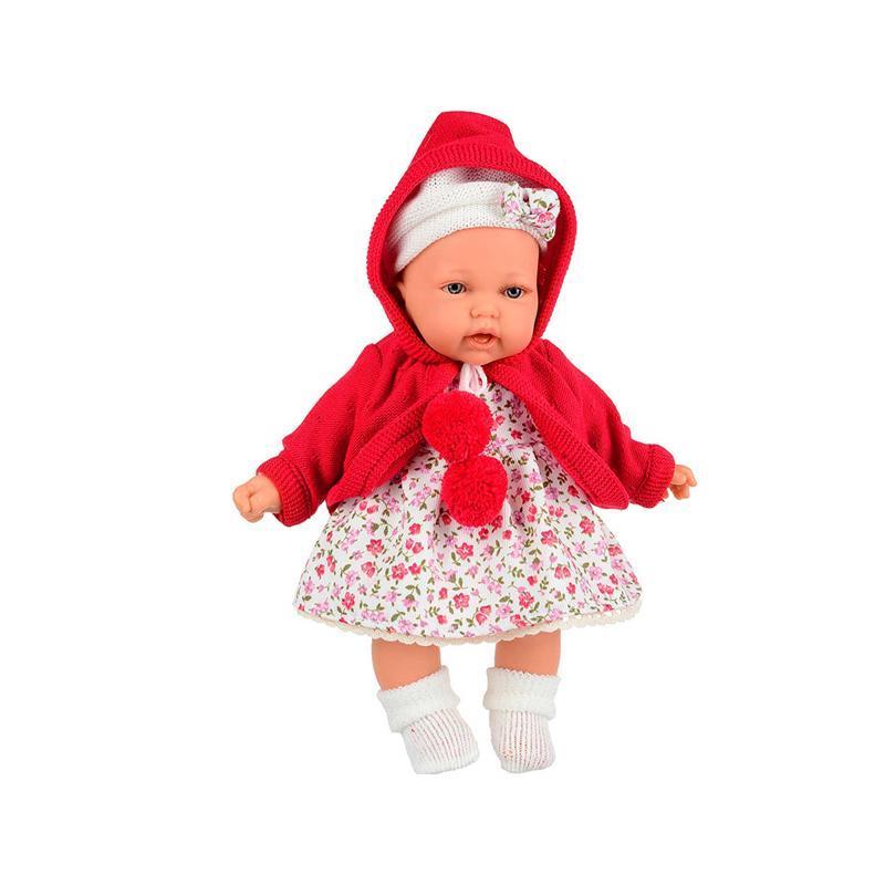 Papusa fetita Petit Gorda, cu hainute rosii, Antonio Juan