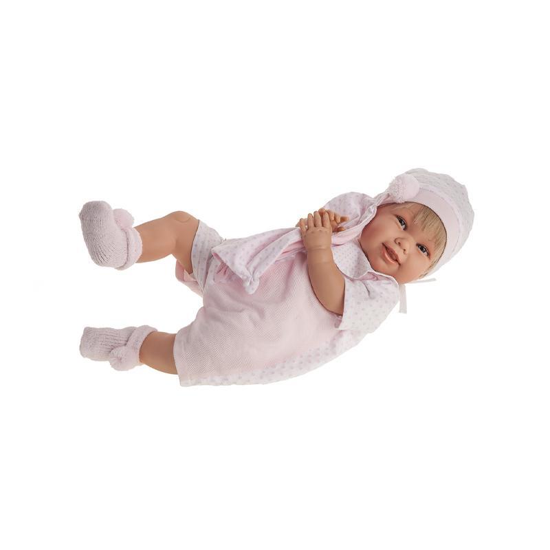 Papusa fetita Martina blonda, cu sunet, 52 cm, Antonio Juan