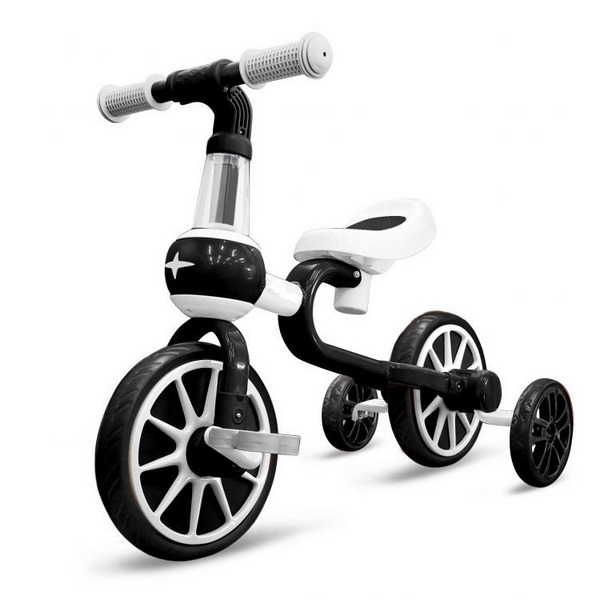 Bicicleta cu roti ajutatoare ecotoys lc-v1311 - alb cu negru - produs resigilat imagine