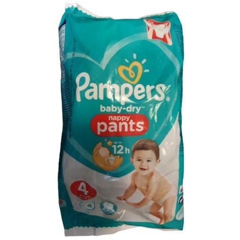 Pampers Baby-Dry Nappy Pants - scutece chilotel nr 4 (9-15kg) 4 buc x 18 pachete (72 scutece) imagine