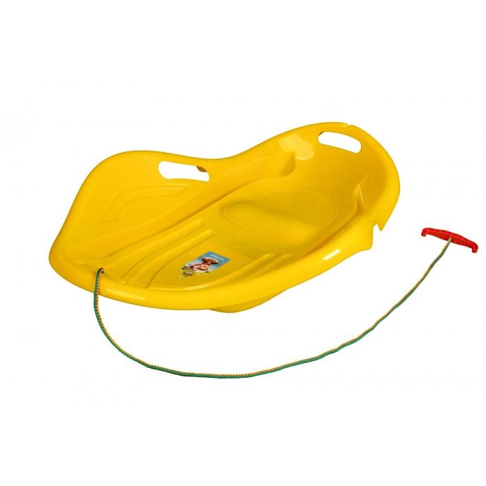 Sanie copii marmat shell premium comfort - galben imagine