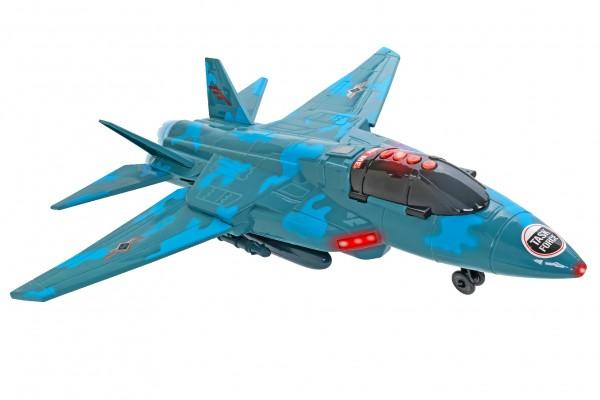 Avion militar Globo Wtoy 50 cm cu lumini si sunete