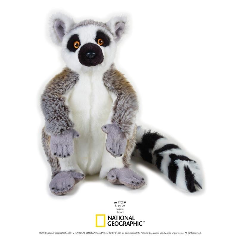 Jucarie din plus National Geographic Lemur 30 cm imagine