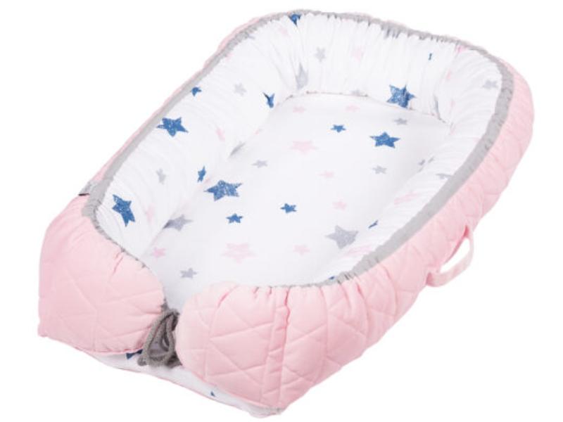 Baby Nest Klups Velvet Roz V101 imagine