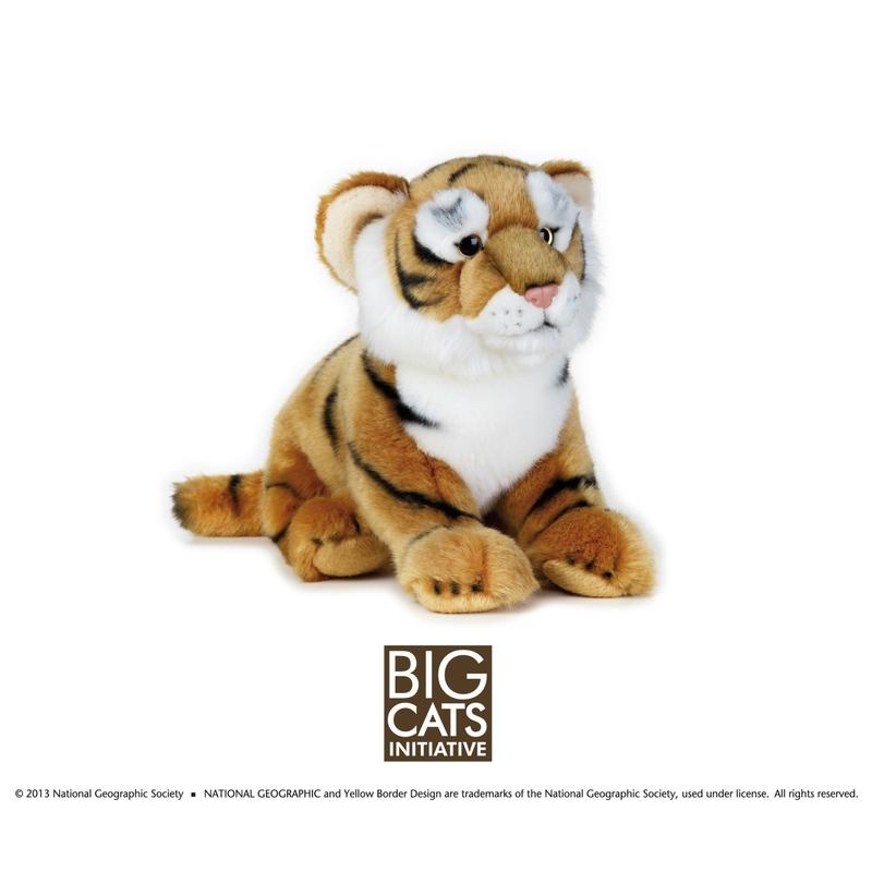 Jucarie din plus National Geographic Tigru 25 cm imagine
