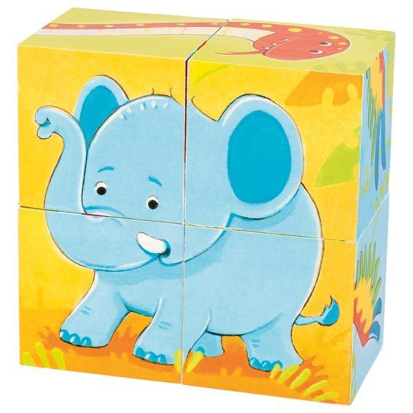 Puzzle din cuburi Animale Salbatice imagine