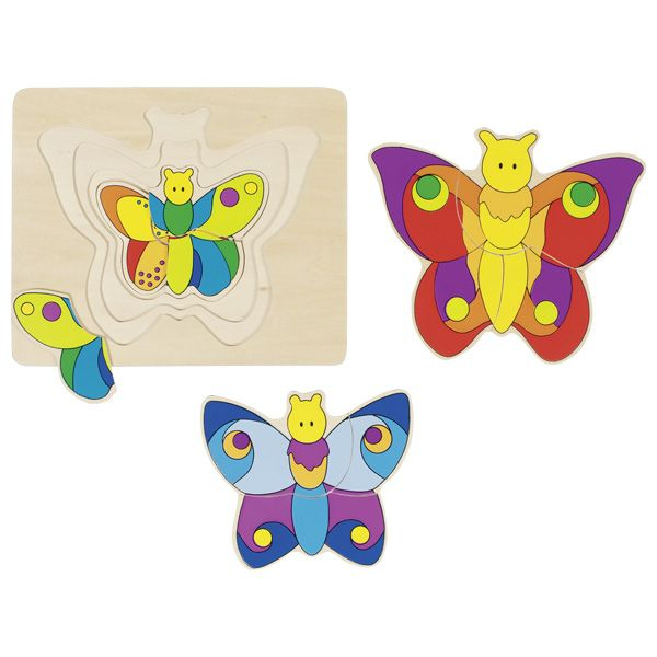 Puzzle stratificat Fluturele imagine