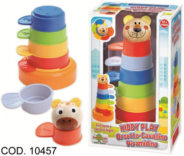 Joc stivuibil pentru copii Piramida RS Toys multicolor