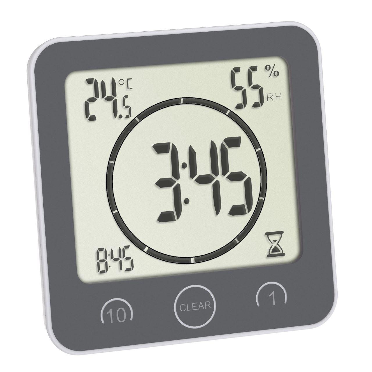 Ceas digital cu timer si termohigrometru pentru bucatarie si baie TFA 60.4001.10 imagine