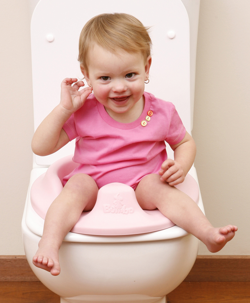 Bumbo reductor wc ergonomic moale pentru copii Pink imagine