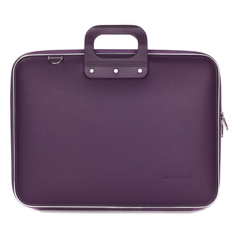 Geanta lux business laptop 17 in Maxi Bombata-Mov imagine