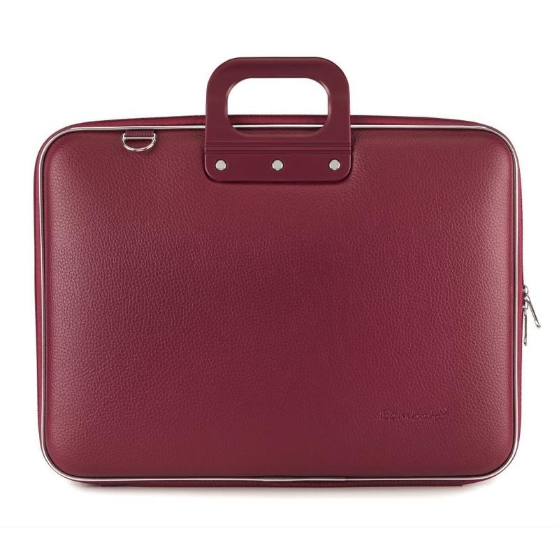 Geanta lux business laptop 17 in Maxi Bombata-Grena imagine
