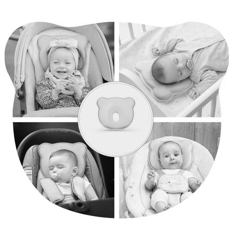 Perna bebelusi contra plagiocefaliei din spuma Memory Osito Olmitos Alb imagine