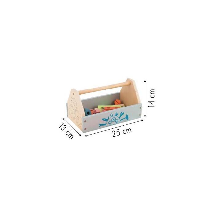 Cutie cu unelte din lemn ecotoys tl80013