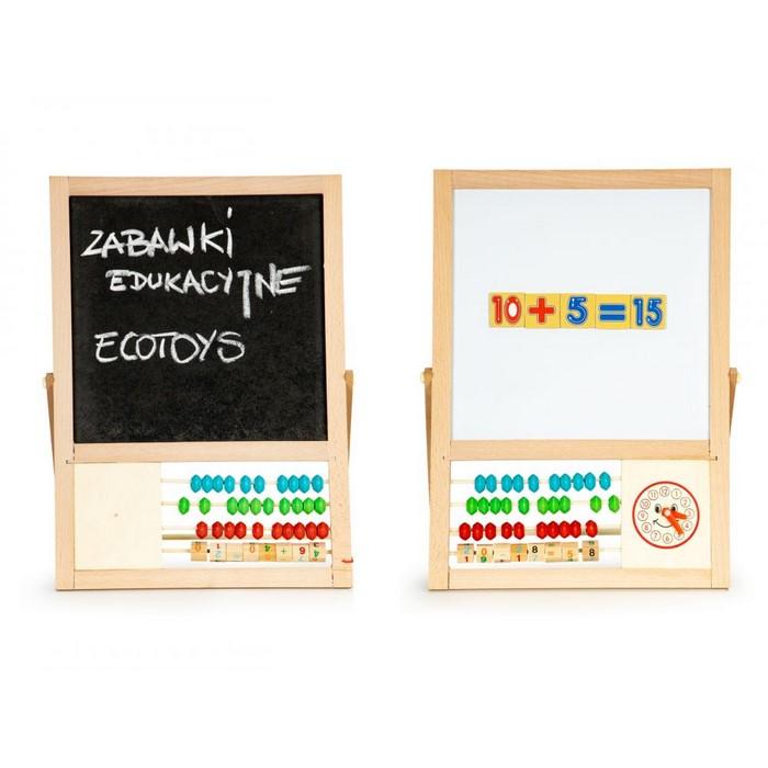 Tabla educationala cu abac si numere ecotoys mb385 imagine