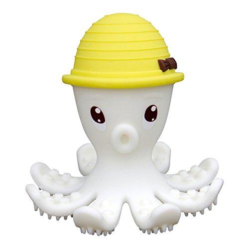 Inel gingival din silicon, mombella - octopus galben imagine