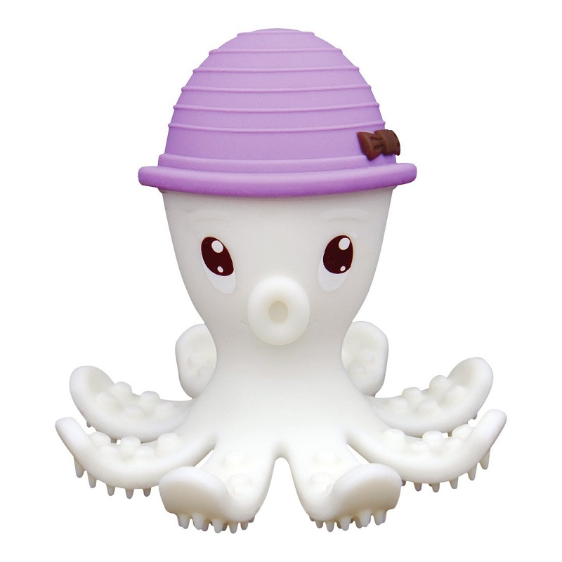 Inel gingival din silicon, mombella - octopus mov imagine