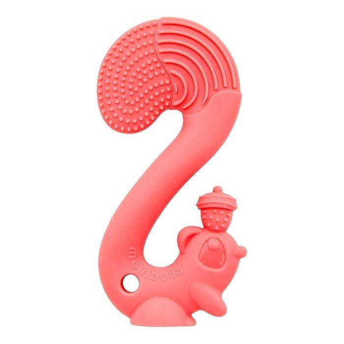 Inel gingival din silicon, mombella - veverita roz imagine