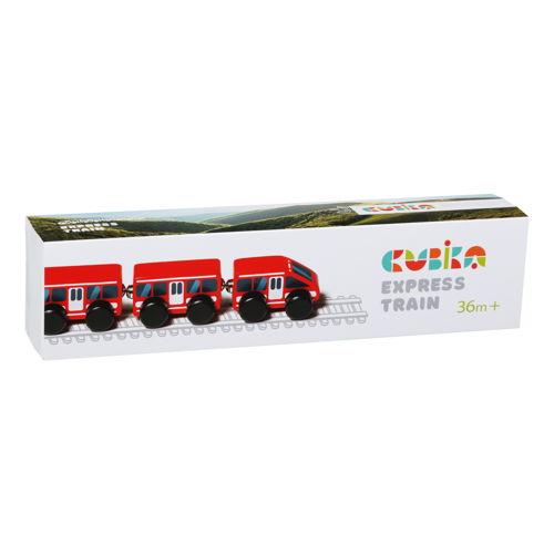 Jucarie din lemn, cubika, express train