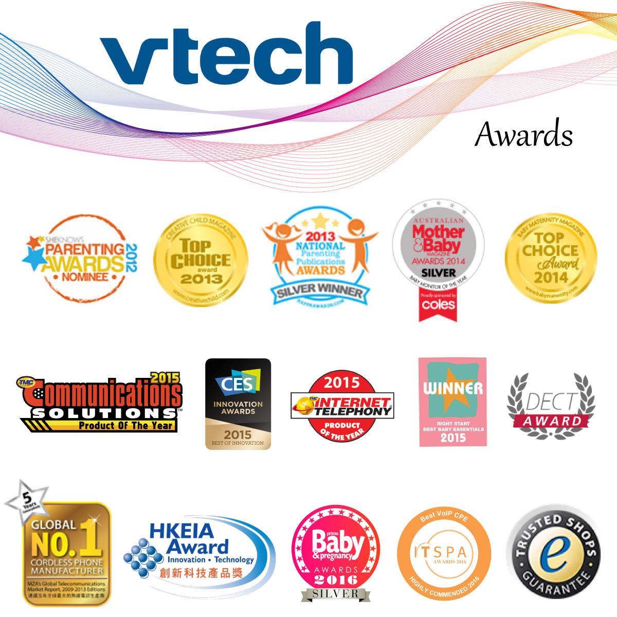 Vtech - Videointerfon digital bidirectional 4,3 inch BM4200, include melodii si termometru imagine