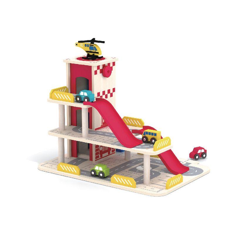 Garaj din lemn cu lift mobil Smily Play imagine