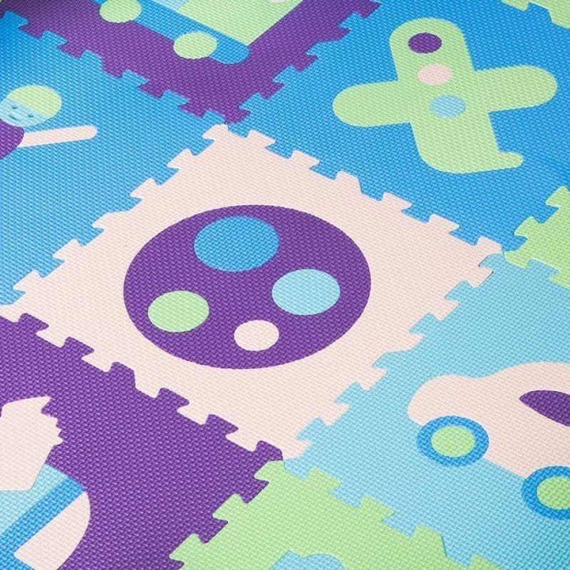 Covoras de joaca termic cu margini inaltate On the Way tip puzzle imagine