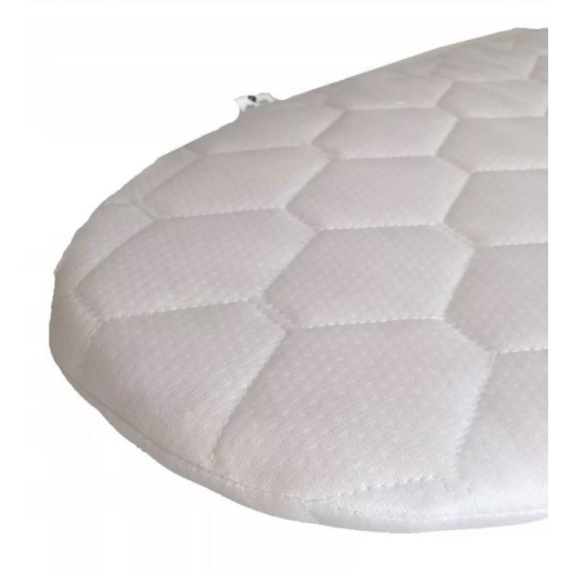 Cosulet bebe pentru dormit handmade din material ecologic Ahoj Baby alb imagine