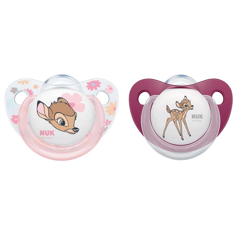Suzeta Nuk Disney Bambi Silicon M2 6-18 luni imagine