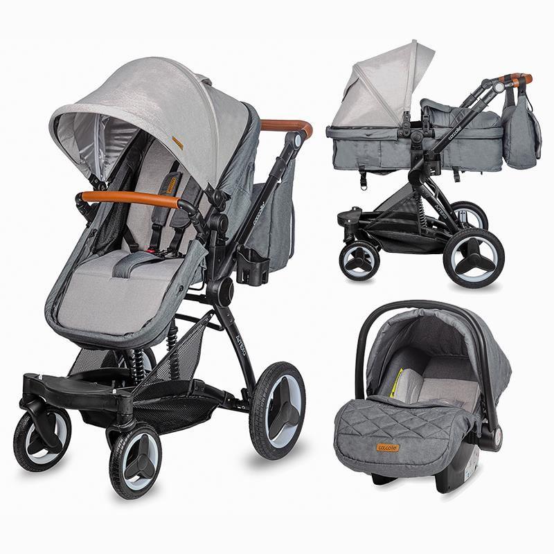 Carucior transformabil 3in1 Coccolle Ambra Urban Grey 2021