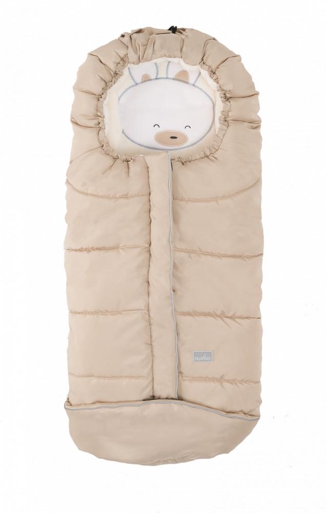 Nuvita Junior Cuccioli sac de iarna 100 cm - Rabbit Beige / Beige - 9605 imagine