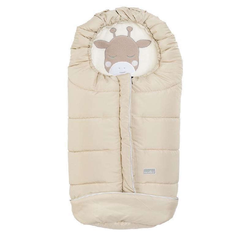 Nuvita Junior Cuccioli sac de iarna 100 cm - Giraffe Warm Sand / Beige - 9605 imagine