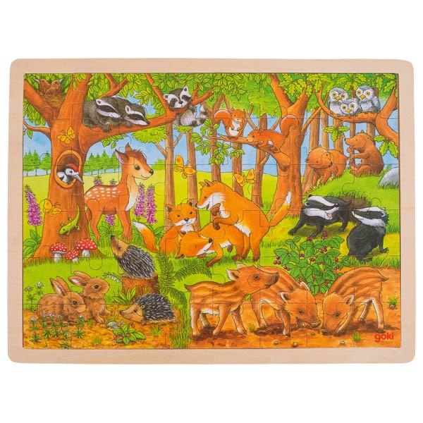 Puzzle Din Lemn Pui De Animale Salbatice imagine