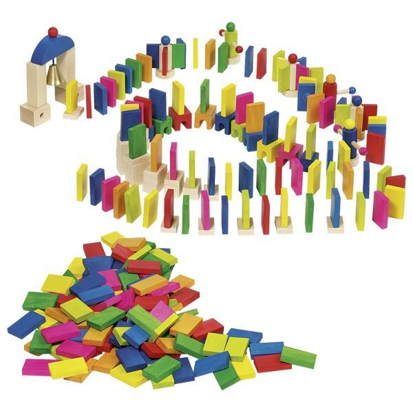 Domino din lemn cu obstacole